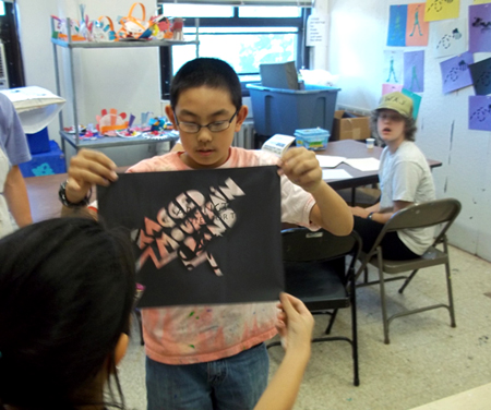 The next day, I visited the Teen Art Studio again, this time with a design ...