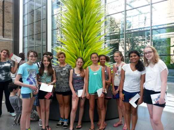 The CITs took a field trip to the Museum of Fine Arts, Boston - what a great group!