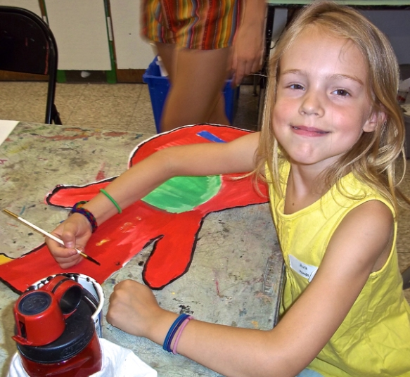 Campers created soft sculptures of musical instruments, inspired by the work of sculptor Claes Oldenburg.